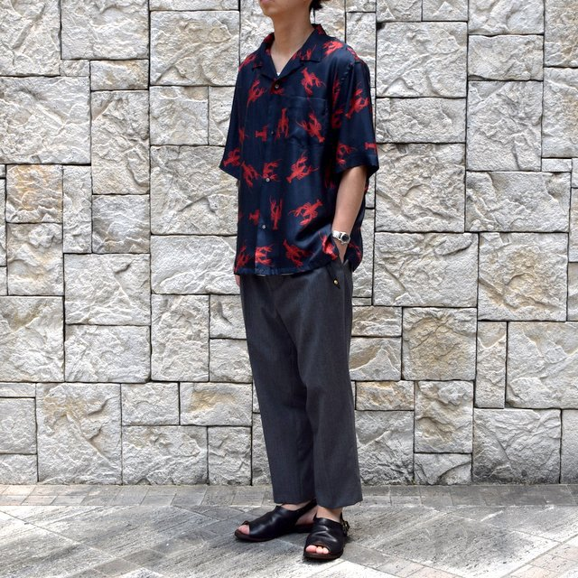 【40% off sale】【2019 SS】blurhms(ブラームス) / SILK OPEN COLLAR PATTERN S/S -LOBSTER- #BHS-19SS023PTN(3)