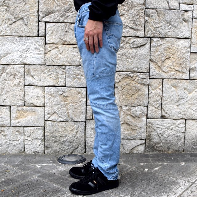 OLD PARK / SHIFT JEANS -BLUE- #OP-344(3)