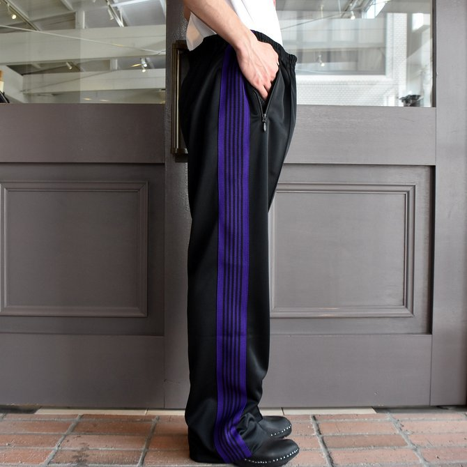 NEEDLES (ニードルス) TRACK PANT-POLY SMOTTH-BLACK/#FK193(3)