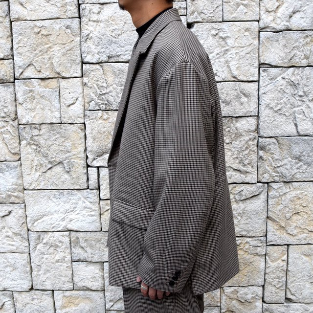 YOKE(ヨーク)/FIVE COLORS PLAID WOOL LOOSE DOUBLE BREASTED JACKET -BEIGE PLAID- #YK19AW0047J(3)