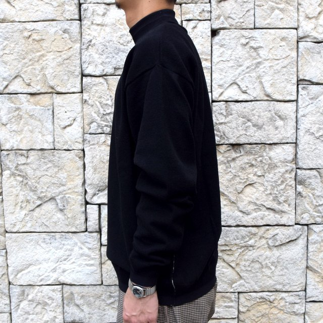 YOKE(ヨーク)/WOOL SABLE MOCK NECK L/S -BLACK- #YK19AW0075S(3)