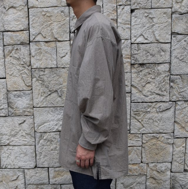 Marvine Pontiak Shirt Makers(マーヴィンポンティアックシャツメーカーズ)/TWO TONE L/S Shirt -BROWN- #MPSM-1913S(3)