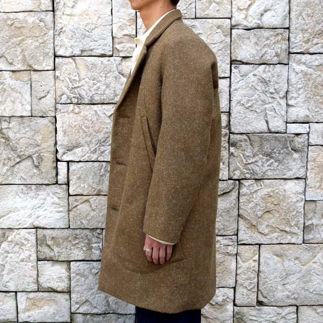【30% off sale】FRANK LEDER(フランクリーダー) /DOG WOOL SINGLE BREASTED COAT -KHAKI- #0721014(3)