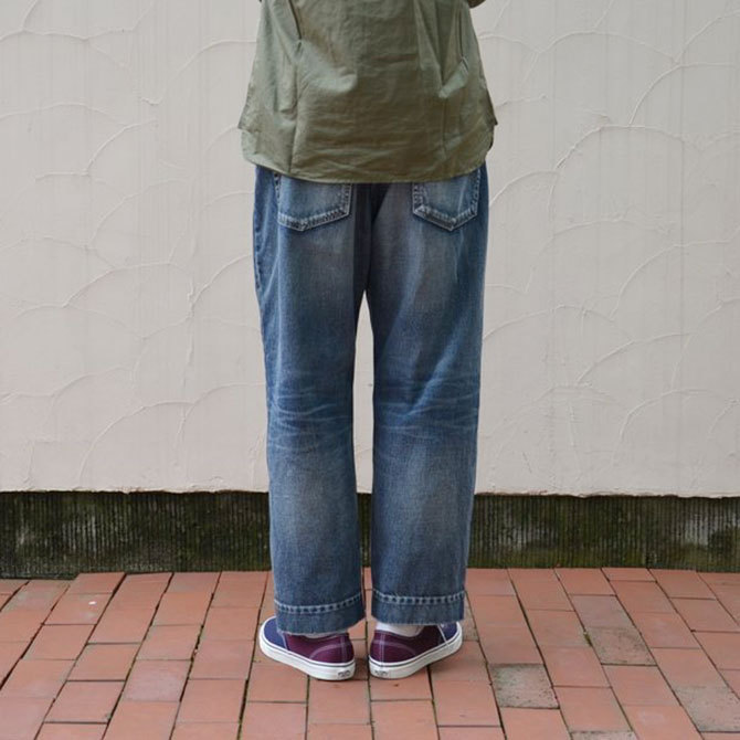 YOUNG&OLESEN(ヤングアンドオルセン) big cinch jeans-WASHED OUT-(4)