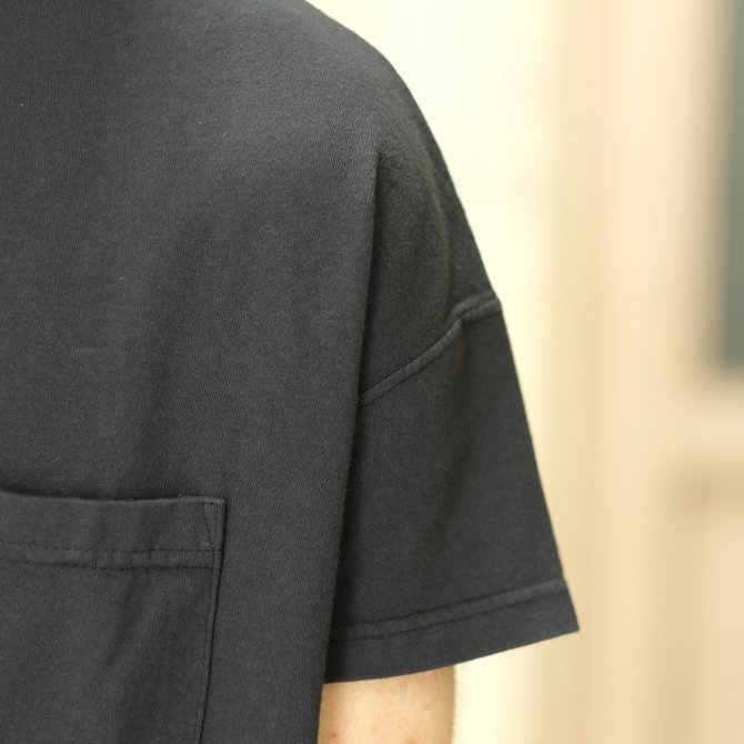 Cal Cru(カルクルー) C/N S/S RELAXED FIT反応染め(MADE IN USA)  -BLACK-【S】(4)