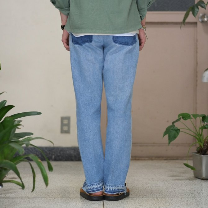 【30% off sale】7 ×7 / seven by seven ( セブン バイ セブン )   REWORK DENIM TROUSERS 2  - INDIGO -(4)