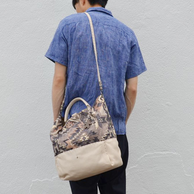HENRY BEGUELIN(エンリーベグリン) New Sacca Shopping tessutoe etn -Acacia-(4)