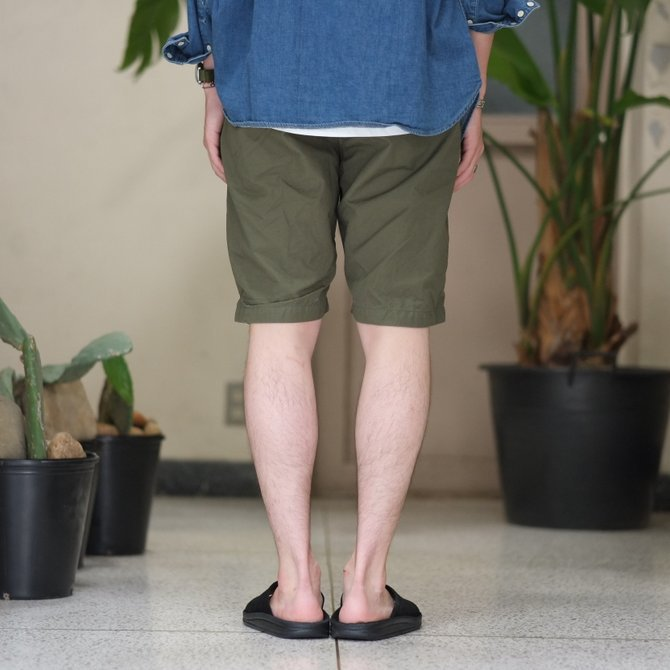 orSlow(オアスロウ)/ UNISEX NEW YORKER SHORTS -(76)ARMY GREEN - #03-7022-76(4)