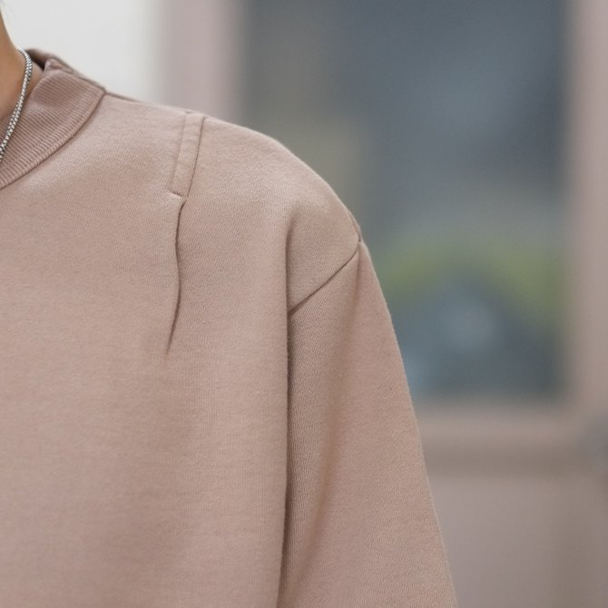 【30% off SALE】【2018 SS】7 × 7 / seven by seven ( セブン バイ セブン ) TACK SWEAT HS  -BEIGE- #SBSS18TSWH(4)