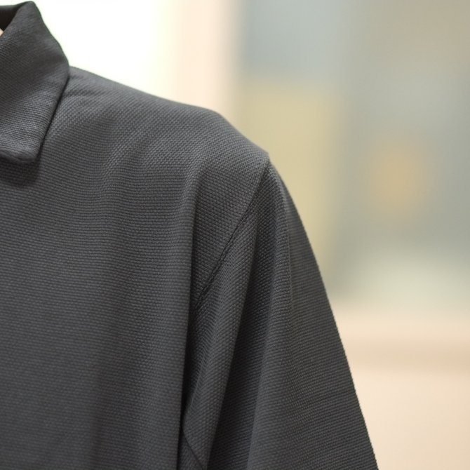 blurhms(ブラームス) / Seed Stitch Cubic Polo  -Black-  BHS-18SS024(4)