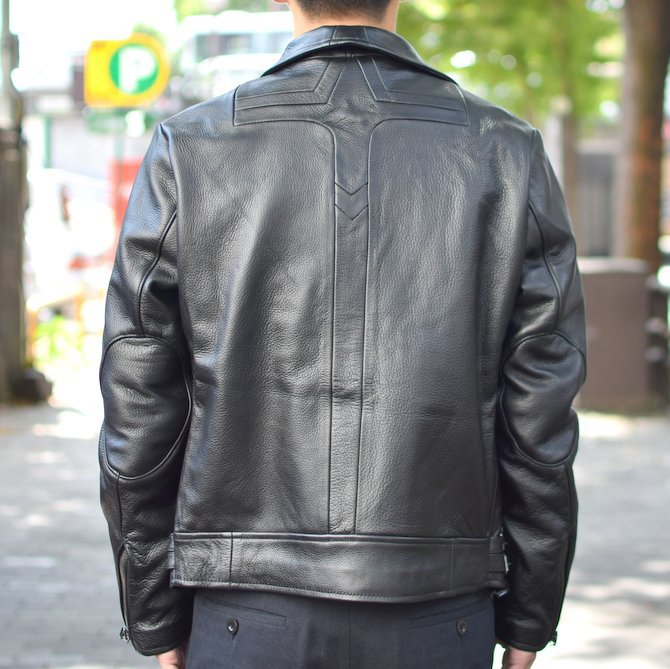 【2018 AW】 FRANK LEDER(フランクリーダー) | ARCHIVE EDITION COW LEATHER BIKE JACKET + SPADE -(99)BLACK- #0422065-99(4)