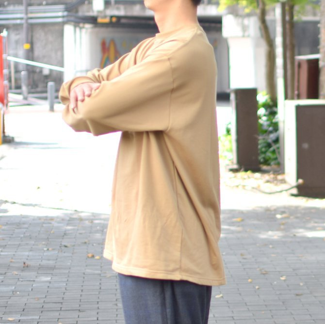 【2018 AW】 Graphpaper (グラフペーパー) L/S Pocket Sweat Tee -BEIGE- #GM183-70078(4)