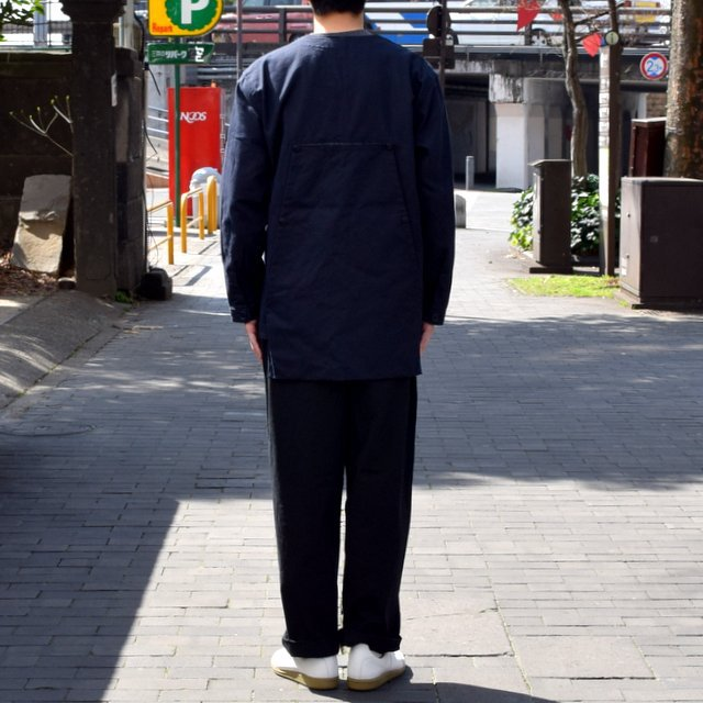 holk (ホーク) Farmers jacket -NAVY- #HOLK-002 (4)