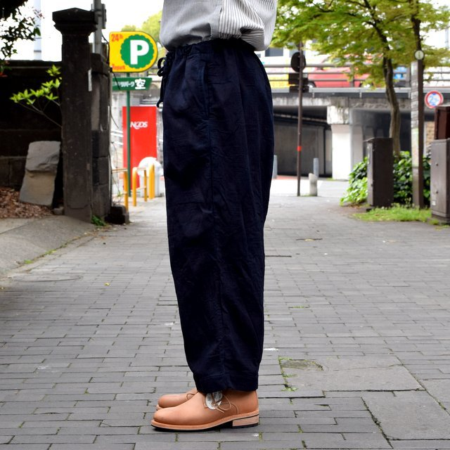 【30% off sale 】 FRANK LEDER(フランクリーダー)INDIGO DYED WASHED TROUSERS #0613030-39(4)