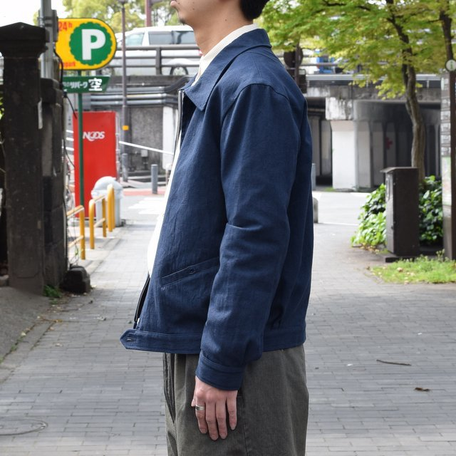 【30% off sale 】FRANK LEDER(フランクリーダー) COTTON SPADE JACKET -(39)NAVY- #0612009-39(4)