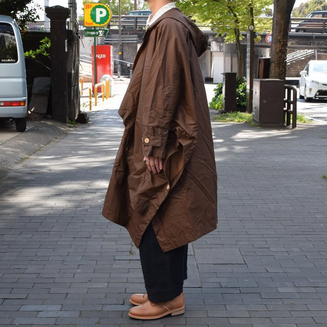 【2019 SS】 too good(トゥーグッド) / THE MESSENGER CAPE WAXED COTTON LW -CLAY-(4)