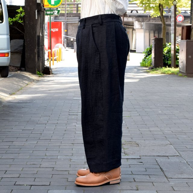 【2019 SS】 too good(トゥーグッド) / THE TINKER TROUSER DOUBLE CLOTH KINEN -FLINT- #62034990-19ss(4)