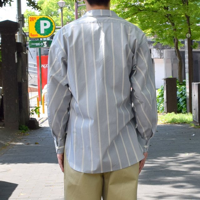 【30% off sale 】un unbient /TAILORED COLLAR SHIRT -BLUE STRIPE-#UNSSH1919-1(4)