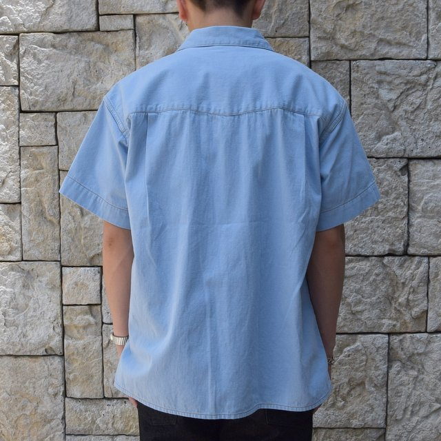 【30% off sale 】WESTOVERALLS( ウエストオーバーオールズ )  DENIM S/S SHIRTS 19SWSH01-SA(4)