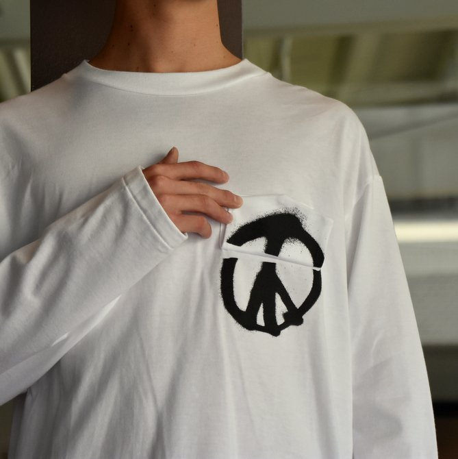 TODAY editon (トゥデイエディション) PEACE #19-TEE-1 WHITE。、BLACK(4)