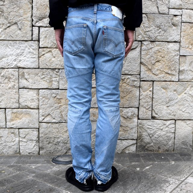 OLD PARK / SHIFT JEANS -BLUE- #OP-344(4)
