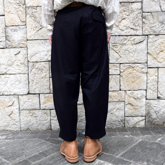 【2019 AW】 toogood(トゥーグッド) / THE ARTIST TROUSER WOOL CASH FLANNEL -FLINT- #62034110(4)