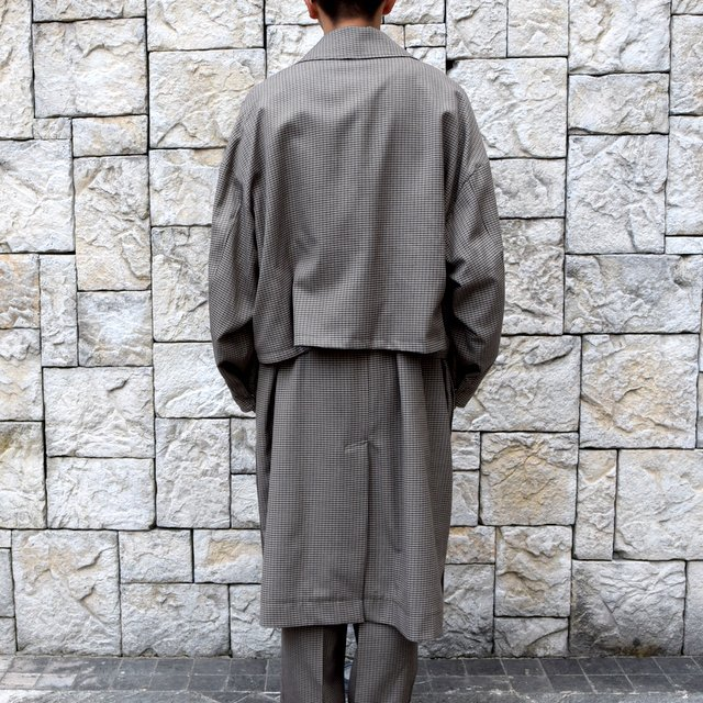 YOKE(ヨーク)/FIVE COLORS PLAID WOOL 3WAY BAL COLLAR SHARE COAT -BEIGE PLAID- #YK19AW0046C(4)