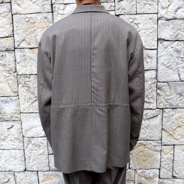 YOKE(ヨーク)/FIVE COLORS PLAID WOOL LOOSE DOUBLE BREASTED JACKET -BEIGE PLAID- #YK19AW0047J(4)