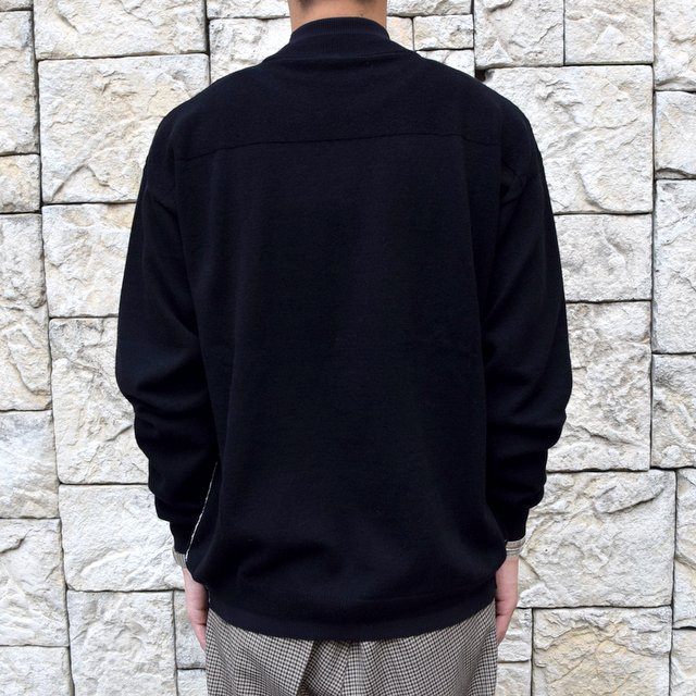 YOKE(ヨーク)/WOOL SABLE MOCK NECK L/S -BLACK- #YK19AW0075S(4)
