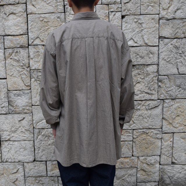Marvine Pontiak Shirt Makers(マーヴィンポンティアックシャツメーカーズ)/TWO TONE L/S Shirt -BROWN- #MPSM-1913S(4)