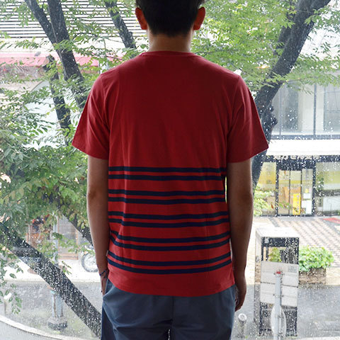 【30% off sale】SATURDAYS SURF NYC(サタデーズサーフ NYC) Randall City Stripe CUT AND SEW -RED- (5)