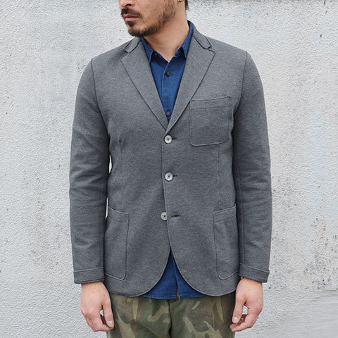 Harris Wharf London (ハリスワーフロンドン) Man Jacket Piquet -(140)middle grey- (5)