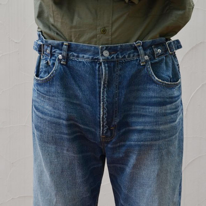 YOUNG&OLESEN(ヤングアンドオルセン) big cinch jeans-WASHED OUT-(5)