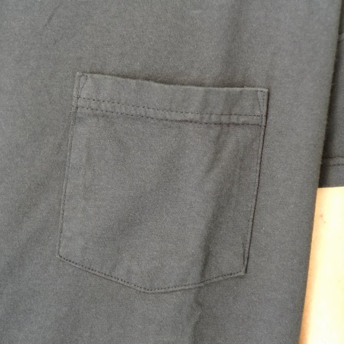 Cal Cru(カルクルー) C/N S/S RELAXED FIT反応染め(MADE IN USA)  -BLACK-【S】(5)