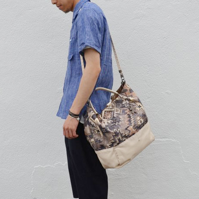 HENRY BEGUELIN(エンリーベグリン) New Sacca Shopping tessutoe etn -Acacia-(5)