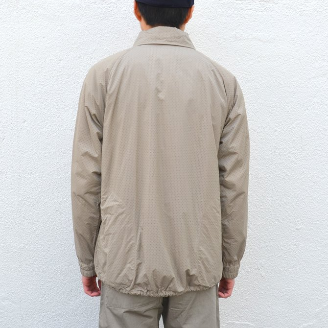 【40% off sale】ts(s) (ティーエスエス) Perforated Nylon Taffeta Cloth Coach Jacket -(32)Gray Beige- #TT36AJ02 (5)