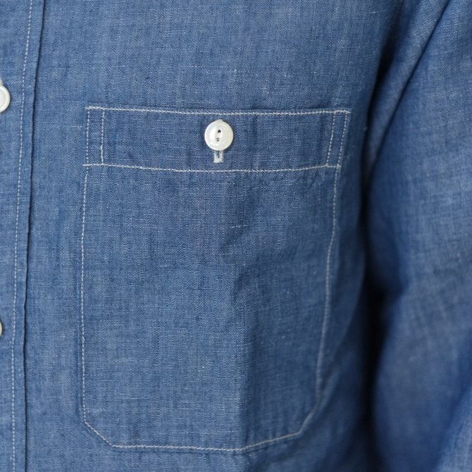 【30% OFF SALE】【2017 SS】7 × 7 / seven by seven ( セブン バイ セブン ) CHAMBRAY SHIRT  - ONE WASH -  #SS2017-7x7CBS(5)