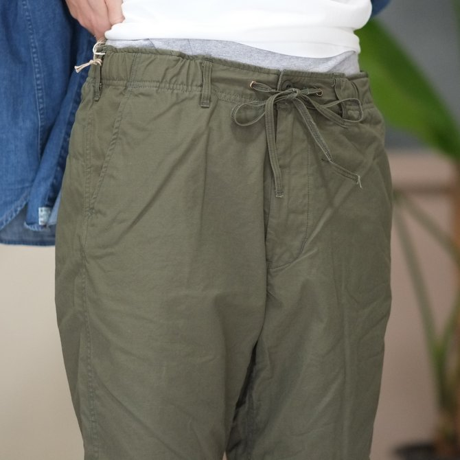 orSlow(オアスロウ)/ UNISEX NEW YORKER SHORTS -(76)ARMY GREEN - #03-7022-76(5)