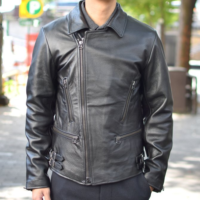 【2018 AW】 FRANK LEDER(フランクリーダー) | ARCHIVE EDITION COW LEATHER BIKE JACKET + SPADE -(99)BLACK- #0422065-99(5)