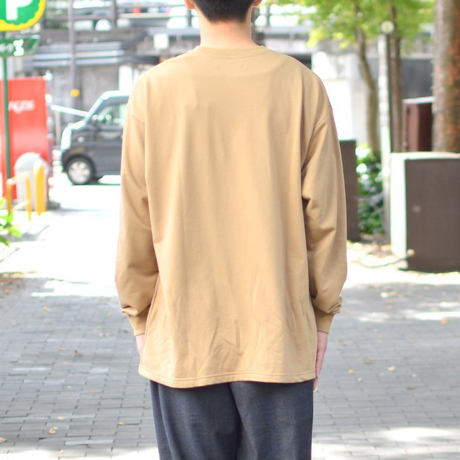 【2018 AW】 Graphpaper (グラフペーパー) L/S Pocket Sweat Tee -BEIGE- #GM183-70078(5)