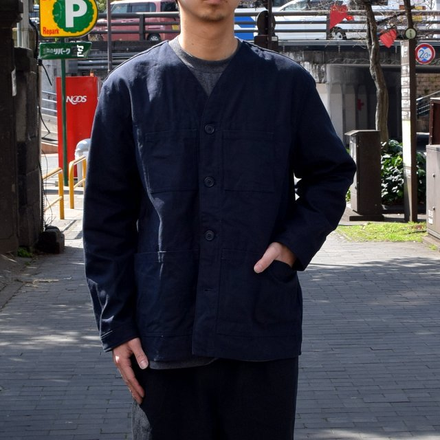 holk (ホーク) Farmers jacket -NAVY- #HOLK-002 (5)