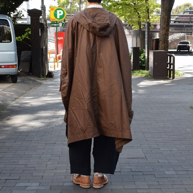 【2019 SS】 too good(トゥーグッド) / THE MESSENGER CAPE WAXED COTTON LW -CLAY-(5)