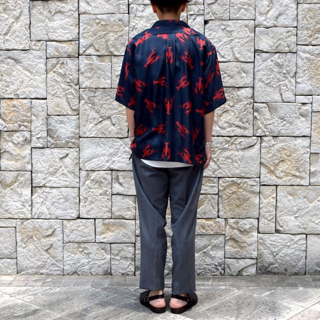 【40% off sale】【2019 SS】blurhms(ブラームス) / SILK OPEN COLLAR PATTERN S/S -LOBSTER- #BHS-19SS023PTN(5)