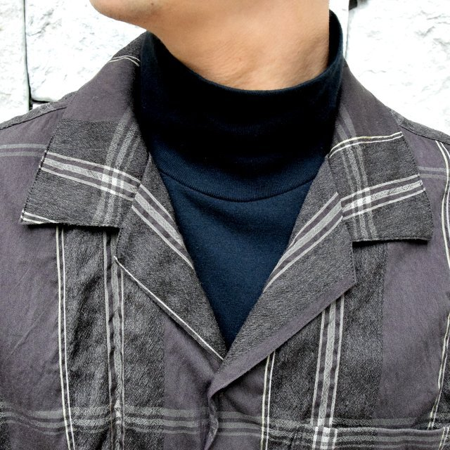 YOKE(ヨーク)/BIG PLAID OPEN COLLAR SHIRTS-BROWN- #YK19AW0062SH(5)