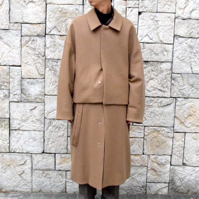 YOKE(ヨーク)/3WAY BAL COLLAR SHARE COAT -CAMEL- #YK19AW0049C(5)