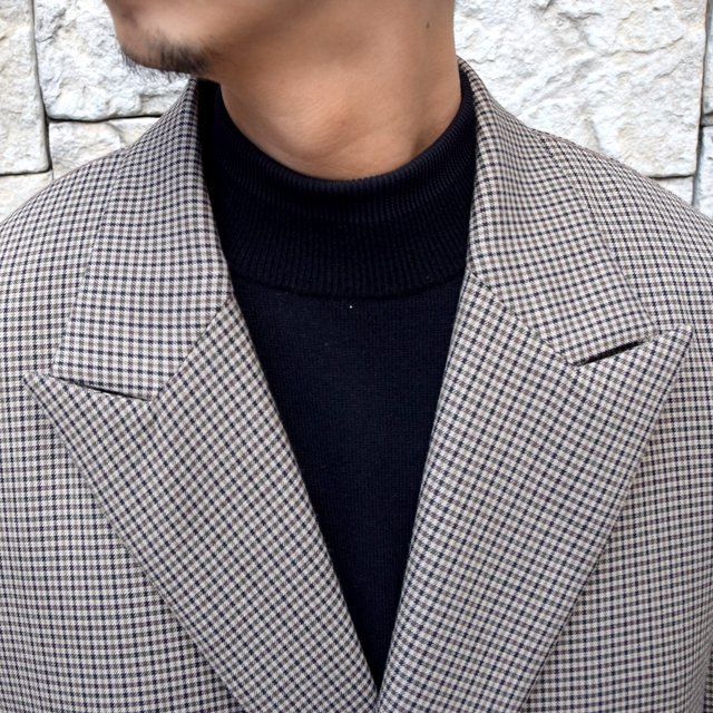 YOKE(ヨーク)/FIVE COLORS PLAID WOOL LOOSE DOUBLE BREASTED JACKET -BEIGE PLAID- #YK19AW0047J(5)