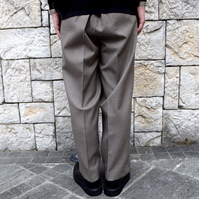 YOKE(ヨーク)/FIVE COLORS PLAID WOOL 1TUCK WIDE TROUSERS -BEIGE PLAID- #YK19AW0048P(5)