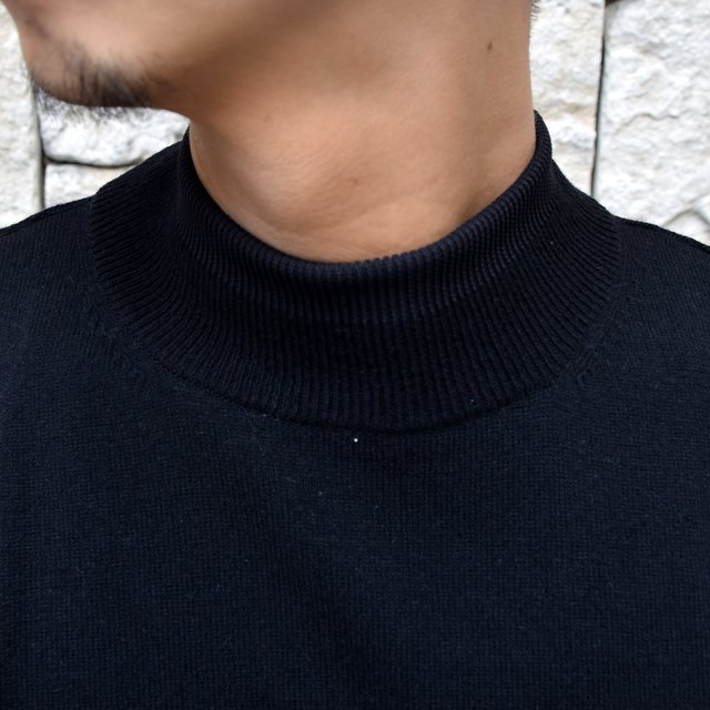 YOKE(ヨーク)/WOOL SABLE MOCK NECK L/S -BLACK- #YK19AW0075S(5)