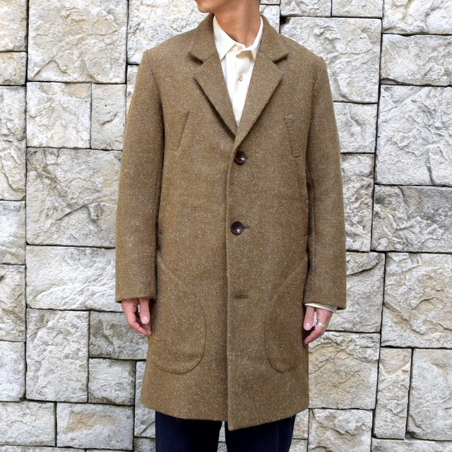 【30% off sale】FRANK LEDER(フランクリーダー) /DOG WOOL SINGLE BREASTED COAT -KHAKI- #0721014(5)