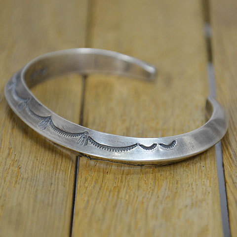 AL SOMERS(アルソマーズ) SILVER TRIANGLE BANGLE -B1357-(6)